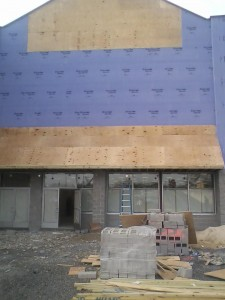 Impact Thrift Stores Feasterville facade progress