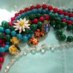 strands of colorful necklaces