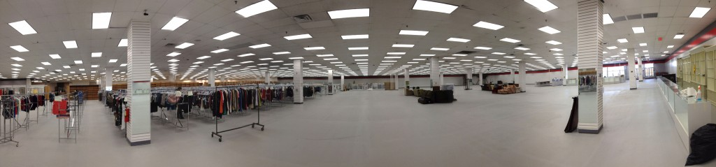 panoramic photo of the new Impact Thrift Store in Feasterville from the office area