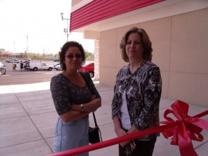 first two shoppers in line at 9:15 am day of our grand opening feasterville
