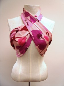 if the scarf is large enough, tie it as a halter top!