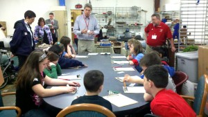 Frank Hartwell speaks to a class of Hatboro Horsham students during an Impact Live program