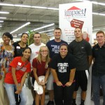 This group of college students from Gwynedd Mercy College volunteered at Impact Thrift Montgomeryville store on August 20, 2012