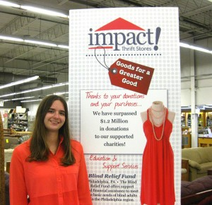 Ahmai Cole complete an internship for college credit at Impact Thrift Stores