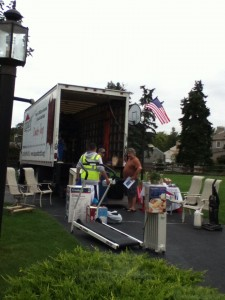 Laird Donation Drive fills our truck in Chalfont Pa