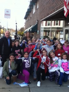 Pennypack students in front of Hatboro Impact Thrift Store