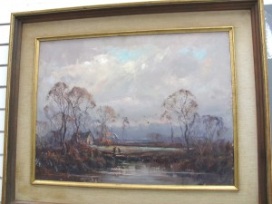 Artist, Wayne Morrell created this beautiful oil painting in the early 20th century. A masterpiece!