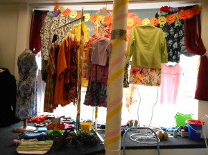 Cruise Wear Display in Impact Thrift Store  Hatboro created by PSU intern Alicia Stewart
