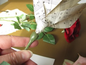 paper flower replaces silk flower