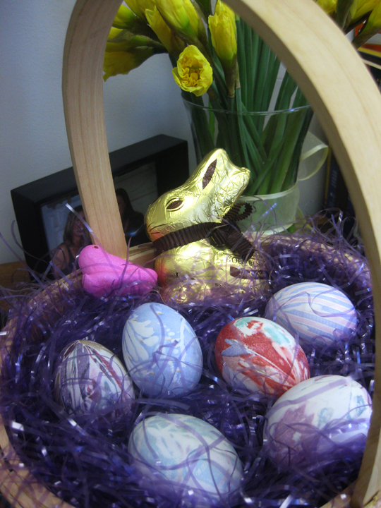 DIY Dye your own Easter Eggs using Recycled Silk Ties