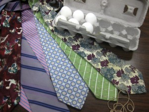 DIY Silk Tie Easter Egg supplies