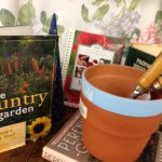 create a basket of gardening ideas for a Mother's Day gift