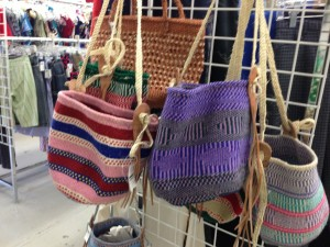 Sustained Acts Kenya Crafts bags available at Impact Thrift Stores