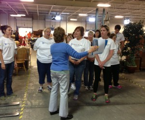 A group of Volunteers from Liberty Mutual Blue Bell, PA