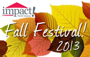 Impact Thrift Store Family Fall Festival logo for 2013