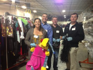 Volunteers at Impact Thrift Store Donation Processing Center