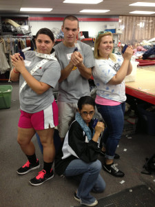 Gwynedd Mercy students and RAs volunteer at the Impact Thrift Stores Donation Processing Center