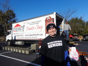 Justin MIles organized a Collection Drive in Ambler PA as his Senior Project at Wissahickon High School