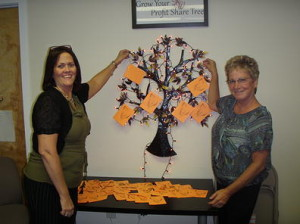 A giving tree with senior wishes