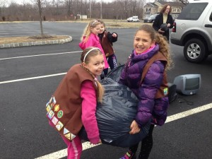brownie troop, collection drive, chalfont, pa, community service