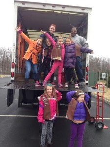 brownie troop, collection drive, Pleasantville Church of Christ, community service