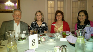 Kathy and Marty Faustino, Joan Marie Brown and Barbe Humphries attend the Bucks County Volunteer of the Year Awards Ceremony at Warrington Country Club on Thursday, April 16, 2015.