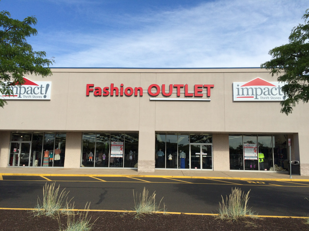 Impact Thrift Stores first Fashion Outlet is located in the Bristol Park Shopping plaza in Bristol, Pennsylvania, feature gently-used and new clothing, shoes and accessories for the entire family at thrift prices