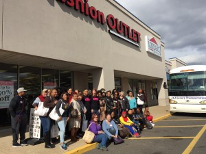 All Thrift Crawl participants gather for a group photo outside Impact Thrift Bristol Fashion OUTLET in front of our luxury bus.