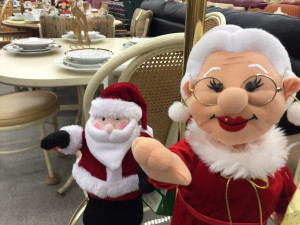 Santa and Mrs. Claus at Impact Thrift Store in Montgomeryville PA
