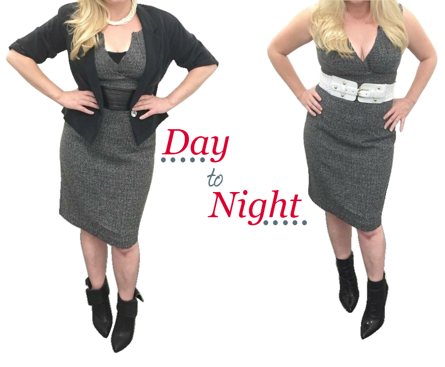 Day to Night look Styled by Jonny Hrab with Impact thrift fashion finds from the new Impact Thrift Bristol Fashion Outlet.