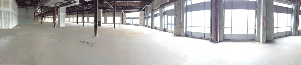 panoramic view of the soon to be new Impact Thrift Store Norristown location