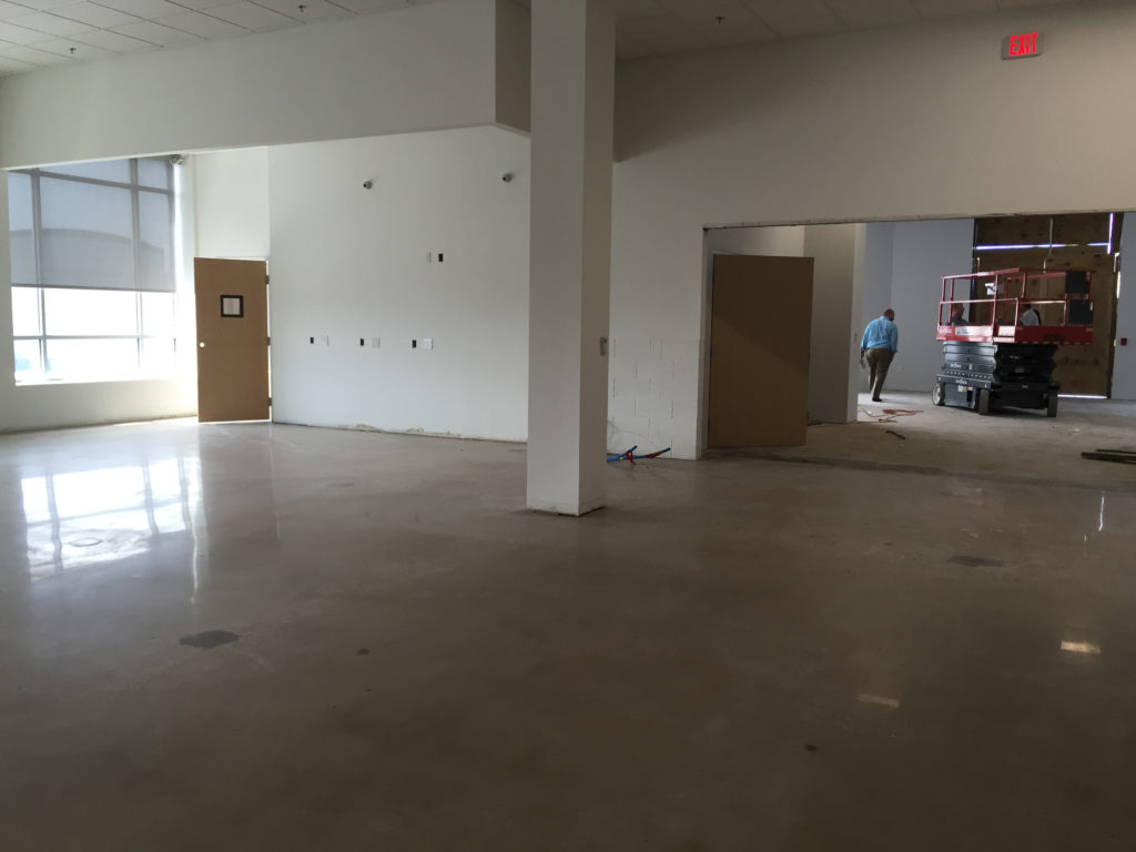 The cash wrap area of the new Impact Thrift store in Norristown PA set to open in early August 2016