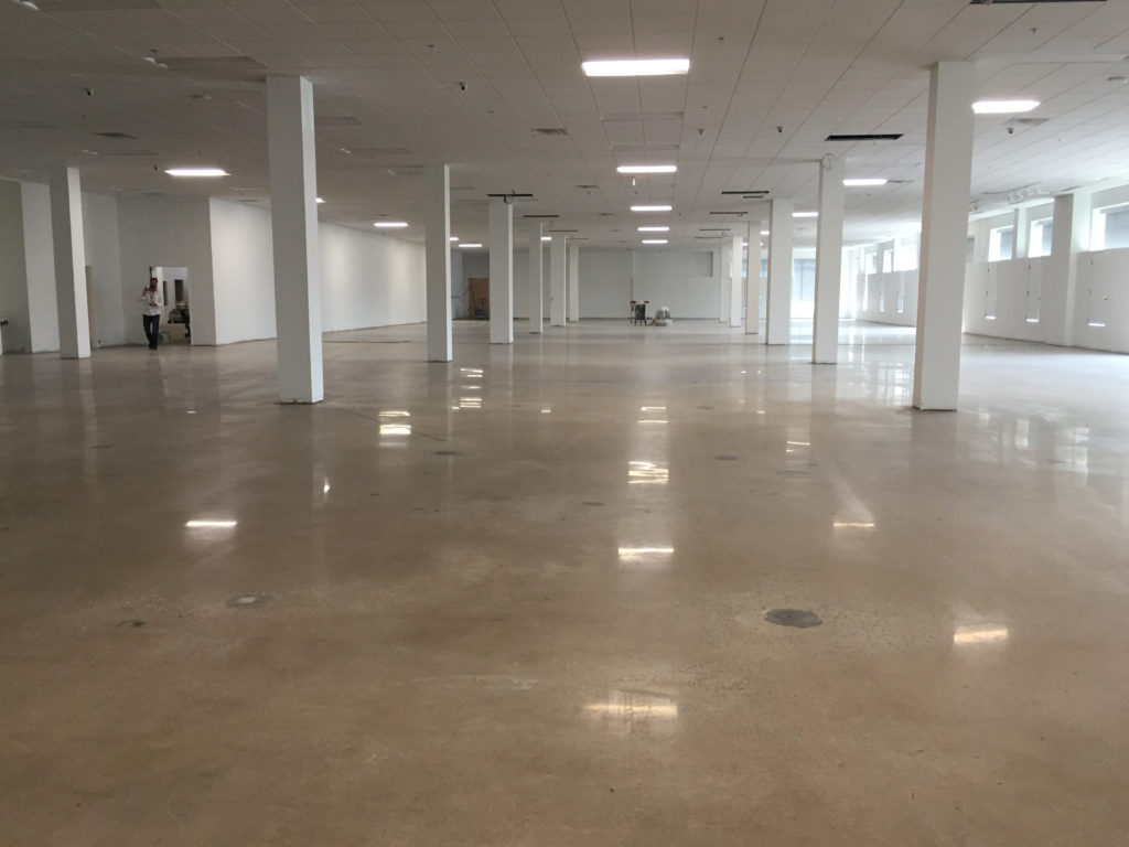 Impact Thrift Stores new Norristown location is under construction including polished cement floors