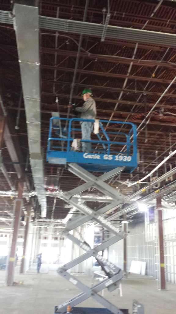 work getting done before the drop ceiling going into our new impact thrift store location in Norristown pa