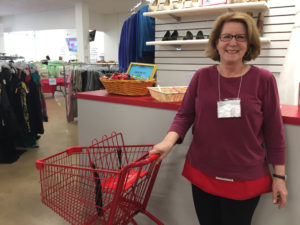 Janice Miller volunteers at Impact Thrift in Norristown Pa, a nonprofit which supports the Philadelphia area community i